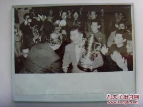 超大尺寸:1961年,世界乒乓球锦标赛,傅其芳(浙江宁波人,我国首个世界冠军和首个男子团体赛世界冠军)
