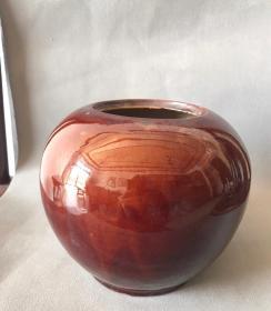 酱红釉罐21722