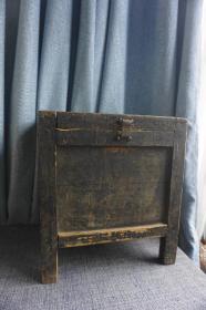 民国实木榫卯小柜子老木盒老家具首饰盒文房盒老钱箱钱柜