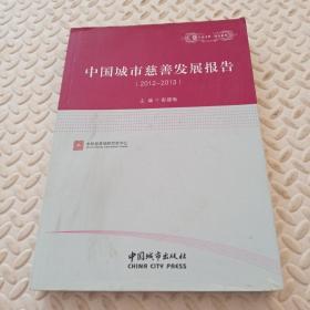 中国城市慈善发展报告. 2012~2013