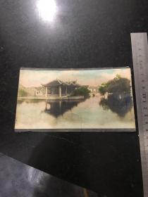 民國時期手工上色老照片 安徽安慶鴨兒塘一角 早已消失的景象孤品非常珍貴