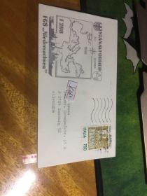 外國信封,海軍封,1992,意大利郵票貼,20190819