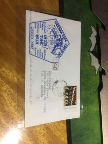 外國信封,海軍封,五角印戳,f209,20190819