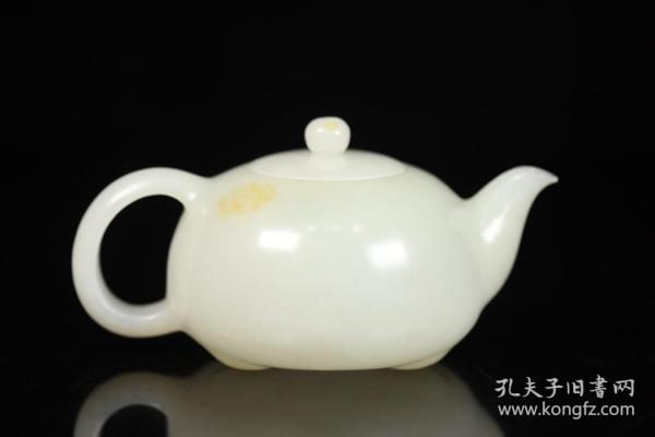 舊藏,和田玉籽料茶壺