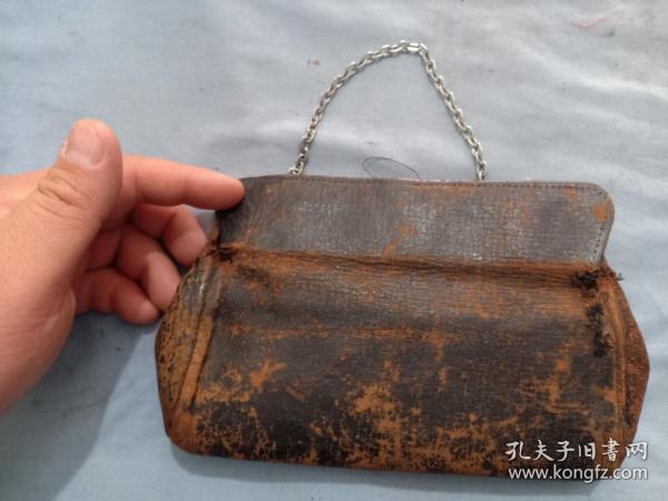 (箱11)民國 富貴小姐用帶鏈手包,皮制,小姐包,18*12cm