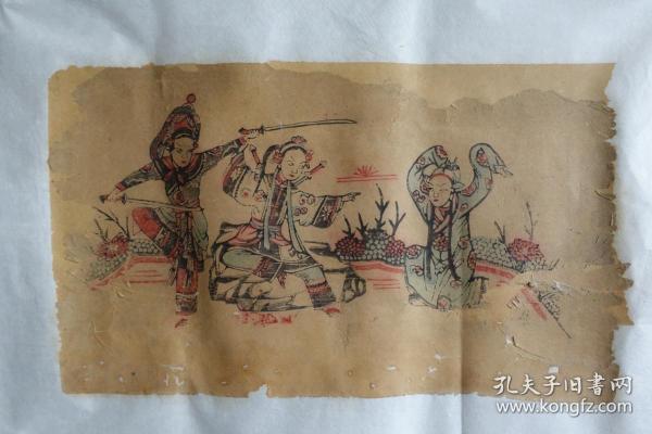 山东菏泽曹州木板年画红船口复兴永《白蛇传》