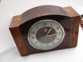 老三5牌座钟  555牌座钟 钟完整无损 木盒子座钟 零件齐全(包邮)