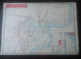 上海市区交通路线图(小16开一张)