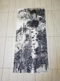 陕西著名书法家傅嘉仪先生山水画作