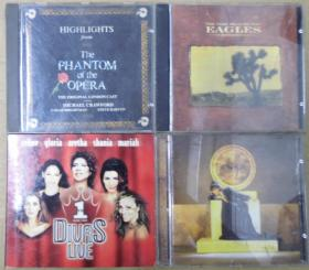 DIVAS LIVE ENYA EAGLES  THE PHANTOM OF THE OPERA   首版 旧版 港版 原版 绝版 CD