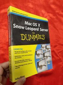 Mac OS X Snow Leopard Server for Dummies     (16开) 【详见图】,全新未开封