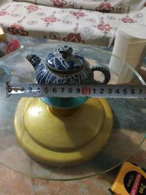 花斑釉瓷茶壶一个