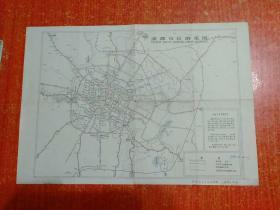 成都市区游览图【早期成都市地图 少见的定价6分版,常见的是定价1角版】