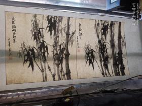 国画竹子,新装裱的,手绘真迹。来源地:北京