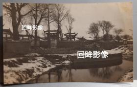民国江苏太仓文庙漂亮雪景老照片