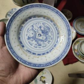 567玲珑龙纹盘一个,民间收藏,尺寸看图。