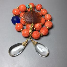 珊瑚十八子手串