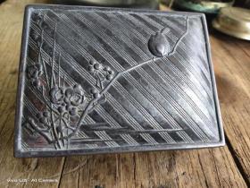 清民老锡铅香盒,粉盒,印泥盒