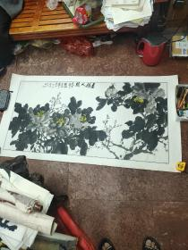 著名画家徐家珏作品【151厘米*78厘米】尺寸较大,终身包真