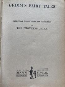 1920s古董书 格林童话完整原版精装英文全集特价