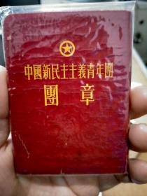 少见1954年中国新民主主义青年团团章