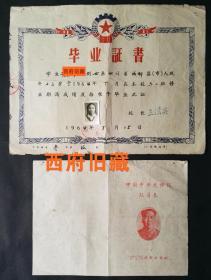 成都市书院西街小学毕业证,中国共产主义青年团成都市委少年先锋队队员表,两件合售