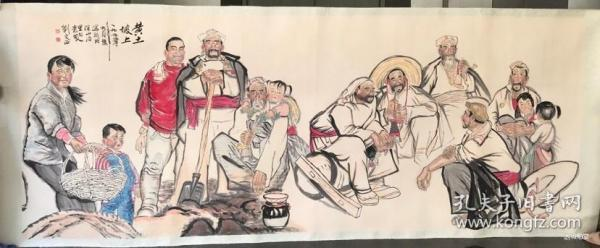 劉文西         純手繪          國畫        (賣家包郵)工藝品