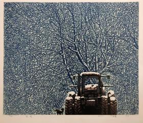 原创版画北大荒系列《雪情》