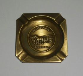 秦皇陵铜车马纪念品(铜质烟灰缸尺寸7*7cm)