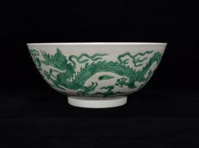明成化绿彩龙纹碗