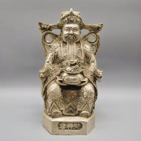古玩铜器收藏,财神像,招财进宝,财源广进,吉祥如意