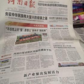 河南日报2017年10月14日