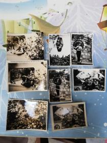 老照片  80年代广州迎春照片8张