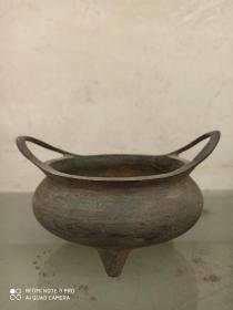 古董古玩 热卖收藏 老铜香炉宣德铜炉  十六字款铜香炉 包浆老气品相佳 尺寸长宽高:15/11.5/8.6厘米。