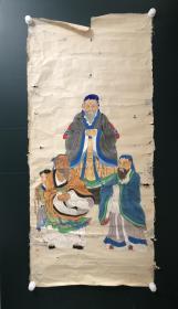 日本回流字画 软片   4710  老人物软片