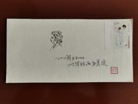 【名家手绘封】昆曲邮票设计者叶华先生《昆曲人物手绘封》宣纸封一枚。叶华,当代著名工笔人物画家,昆曲邮票设计者,西安美术学院国画系教授,硕士研究生生导师。