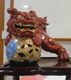 民国时期 日本 九谷制 狮子绣球