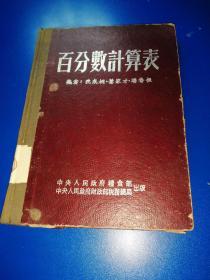 百分数计算表1953版