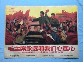 文革宣传画:毛主席永远和我们心连心