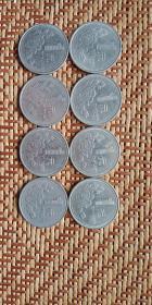 牡丹一元,共八枚(1992~1998,每年各一枚)