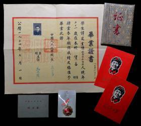 1954年中国人民大学毕业证一批(谭建业)对外经济贸易大学副校长