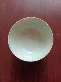 """瓷器,瓷碗一只,建国初期茶碗,一只。有""""保家卫国""""字样。详情见图。"""