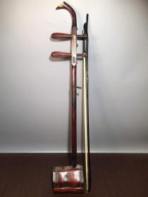 收藏红木镶嵌宝石二胡一把高82厘米