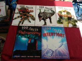 100 FACTS:Spiders+Inventions+Venom+T Rex+Astronomy(5本合售)