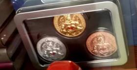 三枚3枚全套020逆行者抗疫天使胜利纪念章摆件 医务英雄勋章中国徽章纪念币币硬币礼盒收藏