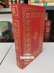 Peasants and Other Stories  《契诃夫短篇小说选》Anton Chekhov 代表作品  franklin library 1982年 真皮精装 限量收藏版 world best loved 系列丛书之一
