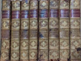 哈兰全集   全8卷   (欧洲文学史4卷、欧洲中世纪史:2卷和英国宪政史2卷) 修订第四版    海量注释  3/4皮面精装 书脊烫金  上书口刷金    毛边书   1886年老版书  哈兰是英国皇家协会会员,他的著作每部都经得起历史的考验,直到今日,研究历史和文学的学者如果没有对他的作品进行研究,都无法跨入大家行列。