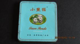 """云南""""小熊猫""""铁盒10支装 带锡纸 方盒尺寸8.5cm"""