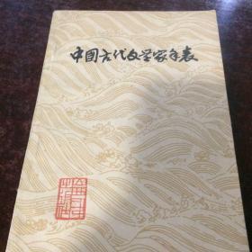 中国古代文学家年表