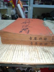 《幼科要旨》2厚册上下全,广东光汉中医学校讲义,(品相好)